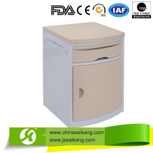 New Powder Coated Steel Bedside Cabinet with ABS Top (CE/FDA/ISO) pictures & photos