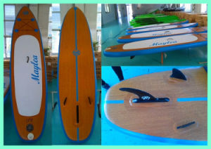 Wooden Stand up Paddle Board, Inflatable Surf Board pictures & photos