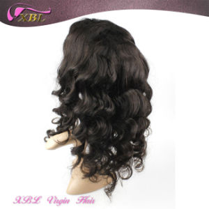 Knots Bleached Natural Human Hair Brazilian Hair Full Lace Wig pictures & photos