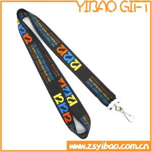 Black Polyester Lanyard/Lanyards with Matel Hook (YB-l-025) pictures & photos