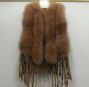 Women Fur Vest Ladies Real Natural Fox Fur Vest for Women