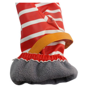 Stripe Red PU Waterproof Rain Mitten/Rain Glove/Raincoat with Buttom for Baby/Chilid pictures & photos