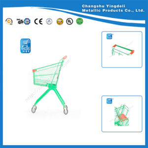 Green Small Size Supermarket Trolley Cart Plasic Spraying Cart Toys for Children