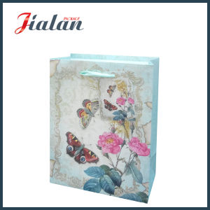 Customize with Glitter Rose & Butterfly Shopping Carrier Gift Paper Bag pictures & photos