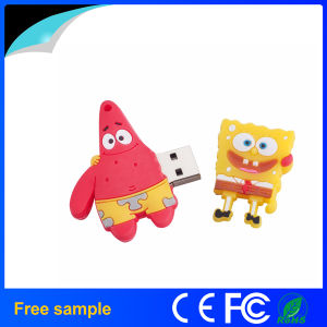 Wholesale Custom Rubber Cartoon Sponge USB Flash Drive