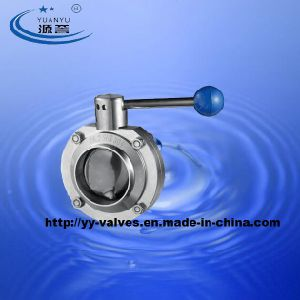 Wine Butt-Weld Butterfly Valve Stainless Steel pictures & photos