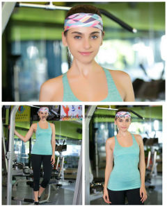 Wholesale Wide Polyester Spandex Print Yoga Sports Headbands pictures & photos