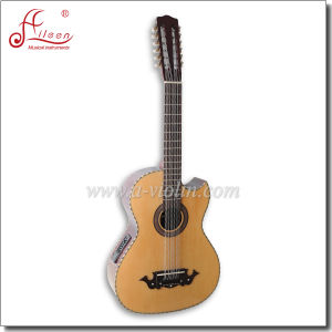 [Winzz] Wholesale Sharp Cutaway 12 Strings Acoustic Guitar with EQ pictures & photos