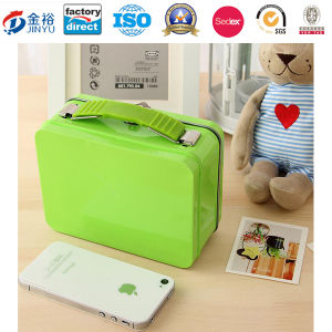 Plastic Handle Metal Lunch Box for Storage pictures & photos