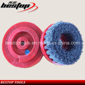 D130mm Snail Lock Backing Silicon Carbide Dimond Abrasive Brush pictures & photos