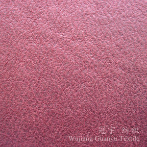 Home Textile Leather Suede Cloth with Gilding Treatment pictures & photos