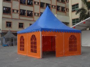 5x5m deluxe pagoda tent, square pyramid tent, aluminum pictures & photos
