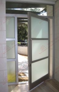 Durable Anodized PVDF Coated Aluminium Entry Door (BHA-DC28) pictures & photos