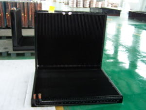 9.52mm Riffled Copper Tube CO2 Refrigerant Louvered Fin Heat Exchanger pictures & photos