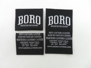 High Quality Clothing / Garments Woven Logo (WL-01) pictures & photos