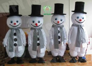 Hi En71 Formal Dress Snowman Mascot Costume
