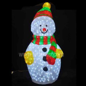 High Quality LED Acrylic Light Snowman Light (LDM-SNOWMAN-30CM) pictures & photos
