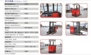 Reach Forklift Truck pictures & photos