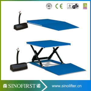 1ton 2m Low Height Stationary Scissor Lift Table pictures & photos