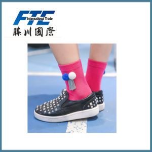 Socks with Tassel and Ball Cotton Socks pictures & photos