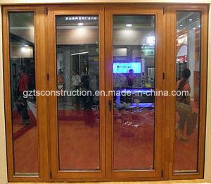 Double Glazing Aluminum Wood Casement Door pictures & photos