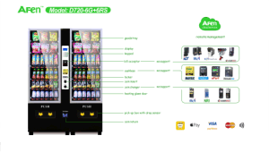 Small Size Drinks and Snacks Combo Vending Machine pictures & photos