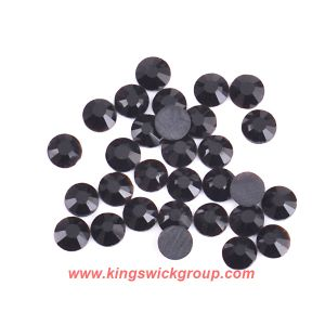 Ss4-Ss40 Jet Black Non Hotfix Crystal Flatback Rhinestones for Nail Art Decoration pictures & photos