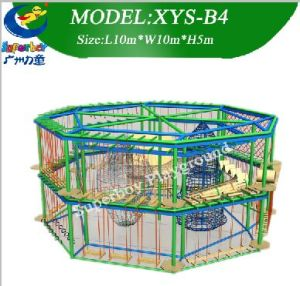 Kids Outdoor Playground Equipment Fitness Rope Course pictures & photos