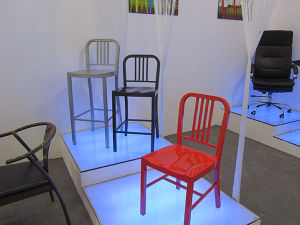 Colorful Powder Coating Finished Different Heigh for Choose Metal Backrest Chair Bar Stools Metal Furniture (5030-18)