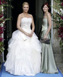 High Quality Latest Designer White Mermaid One Shoulder Lace Back Layered Organza Skirt Bridal Dress 2014 (MN1080)