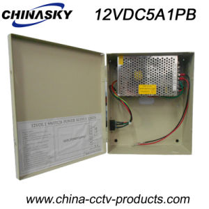 60W CCTV Power Supply with Battery Back-up (12VDC5A1P/B) pictures & photos