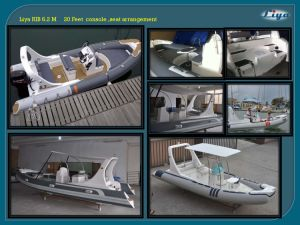 Liya 20ft Zodiac Inflatable Boat with Electric Motor China Rib Boat pictures & photos