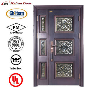 High Quality Steel Door with Glass for Villa/Luxury Steel Security Door/Villa Door/Garden Door