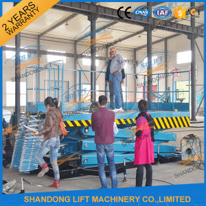 Ce Stationary Hydraulic Scissor Warehouse Elevator for Sale pictures & photos