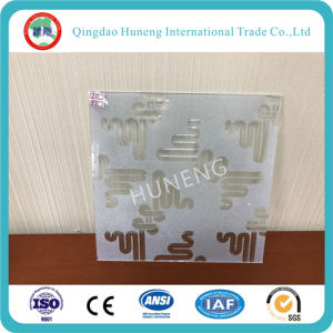 Coated Printing Painted Patterned Glass with Top Quality pictures & photos
