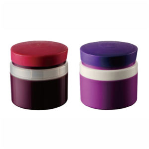 Purple Color Round Plastic Jar for Cosmetic Container (NJ100) pictures & photos
