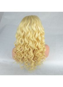 Virgin Human Hair Blonde 613 Loose Wave Full Lace Wig pictures & photos