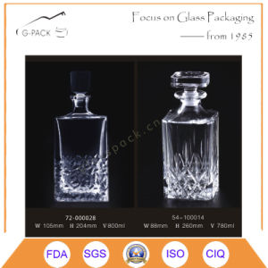 Top Quality Glass Liqueurs Bottle with Glass Cork Seal pictures & photos