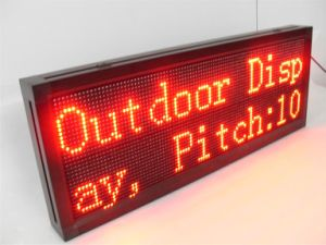 P10mm Red Color Semi-Outdoor High Brightness Advertising LED Sign pictures & photos