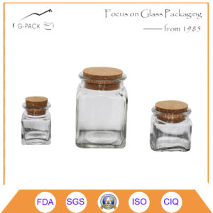 Glass Jar with Wood Cork for Food Packing pictures & photos