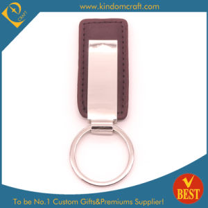 High Quality Customized Metal PU Leather Key Ring with Metal Accessory for Gift pictures & photos
