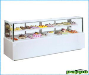 High Quality Rectangular Cake Display Refrigerator