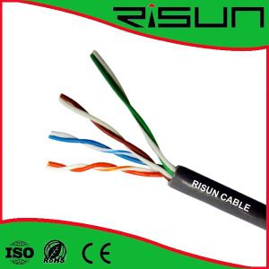Ethernet Cat 5e Solid Copper Bulk Cable for Structured Wiring Needs pictures & photos