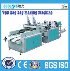 Double Line Shopping Plastic Bag Making Machine pictures & photos