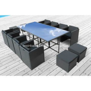 Dining Set for Outdoor with Aluminum / SGS (8219-5 BLACK) pictures & photos