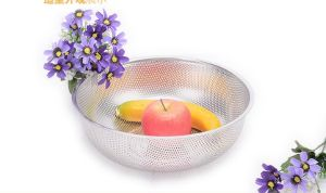 Stainless Steel Deep Wash Rice Sieve (CS-020) pictures & photos