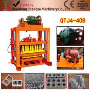 Qtj4-40 Concrete/Fly Ash Cement Interlocking Block Making Machine for Africa