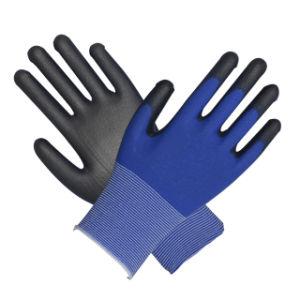 Blue PU Glove Ce pictures & photos