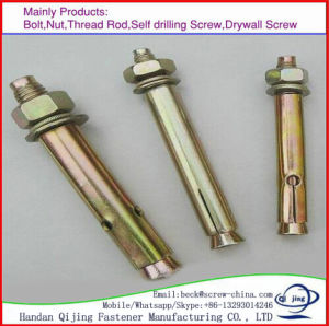 High Strength M10/M12/M16/M20 Grade 4.6 Steel Expansion Flash Anchor Bolts in Stocks pictures & photos