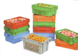 Plastic Stackable and Nesting Container (180 degree) pictures & photos